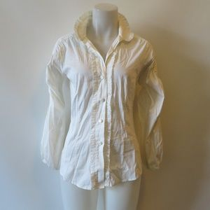 ROBERT RODRIGUEZ WHITE LONG SLEEVE BLOUSE TOP 4 *